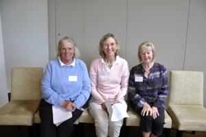 Executive Compriising Anna Tucker (VP), Elizabeth Nicholson (Pres) and Helen Smith (Hon. Sec.)